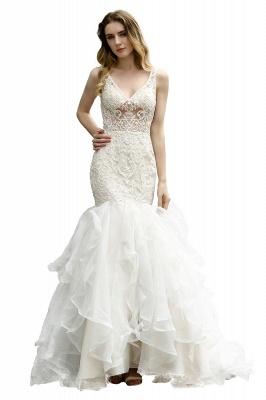 Kleid Standesamt   Brautkleid Meerjungfrau mit Spitze_5
