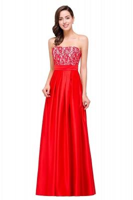 Rote Abendkleider mit Spitze   Abiballkleider Lang Günstig_1