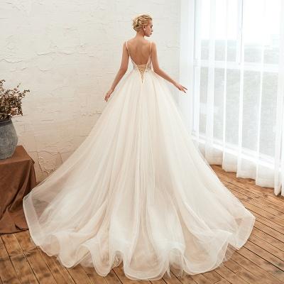 Elegante Hochzeitskleid A Linie   Standesamt Brautkleid_20
