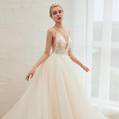 Elegante Hochzeitskleid A Linie   Standesamt Brautkleid_18