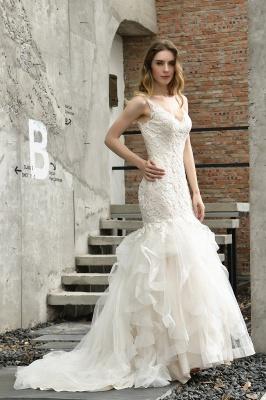 Brautkleider Meerjungfreu   Hochzeitskleid mit Spitze_12