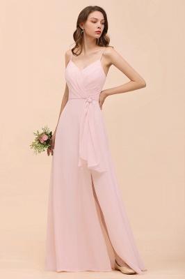 Schickt Brautjungfernkleider Rosa | Chiffon Kleider Lang Günstig_4