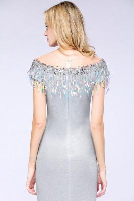 Silber Abendkleider Lang Günstig | Abiballkleider Online Kaufen_7