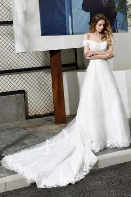 Schlichte Brautkleid A Linie   hochzeitskleider standesamt_10