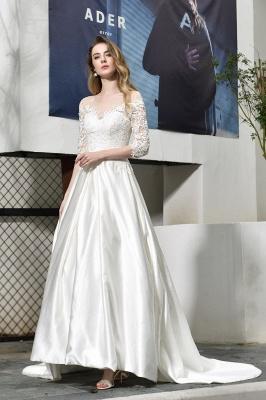 Elegante Brautkleid A linie | Hochzeitskleider Standesamt_5