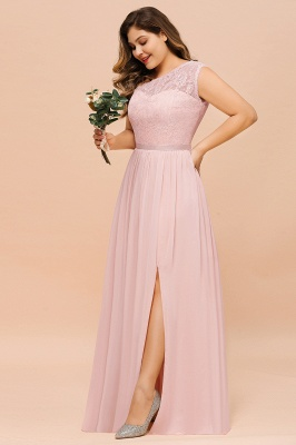 Rosa Brautjungfernkleider Günstig | Chiffon Hochzeitspartykleider_8