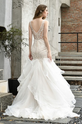 Kleid Standesamt   Brautkleid Meerjungfrau mit Spitze_10