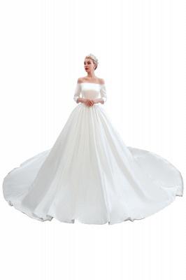 Brautkleider A Linie | Schlichte Hhochzeitskleid Standesamt_12