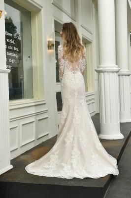Elegante Brautkleid Meerjungfrau | Hochzeitskleider Mit Ärmel_3