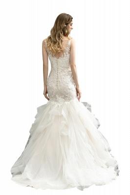 Brautkleider Meerjungfreu   Hochzeitskleid mit Spitze_4