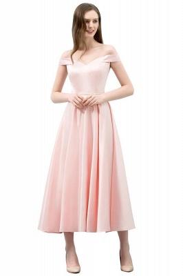 Schlichtes Abendkleid Rosa   Cocktailkleider Kurz_1