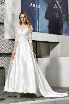 Elegante Brautkleid A linie | Hochzeitskleider Standesamt_6