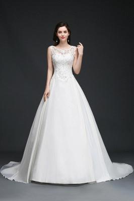 Schlichtes Brautkleid Satin | Prinzessin Hochzeitskleider Günstig_1