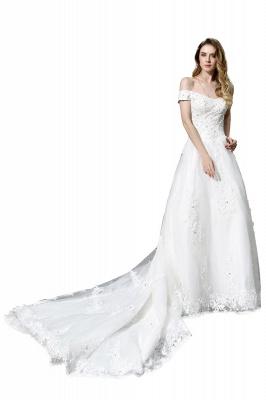 Schlichte Brautkleid A Linie   hochzeitskleider standesamt_5