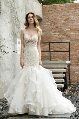 Kleid Standesamt   Brautkleid Meerjungfrau mit Spitze_9
