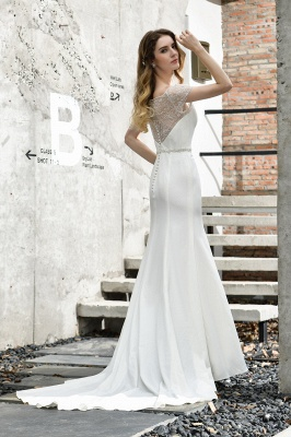 Designer Brautkleid mit Ärmel   Hochzeitskleider Meerjungfrau_10