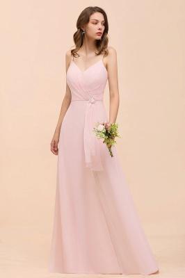 Schickt Brautjungfernkleider Rosa   Chiffon Kleider Lang Günstig_5