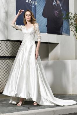Elegante Brautkleid A linie | Hochzeitskleider Standesamt_1
