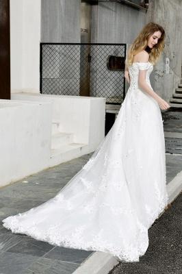 Schlichte Brautkleid A Linie   hochzeitskleider standesamt_12
