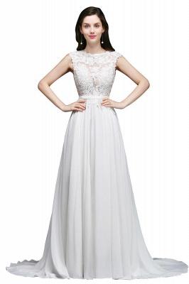 Schlichtes Brautkleid Günstig | Hochzeitskleider A Linie_1