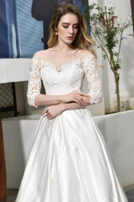 Elegante Brautkleid A linie | Hochzeitskleider Standesamt_12