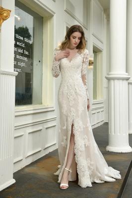 Elegante Brautkleid Meerjungfrau | Hochzeitskleider Mit Ärmel_5