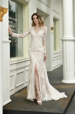 Elegante Brautkleid Meerjungfrau | Hochzeitskleider Mit Ärmel_4