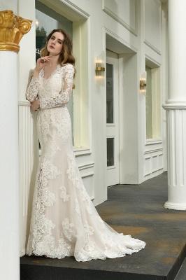 Elegante Brautkleid Meerjungfrau | Hochzeitskleider Mit Ärmel_9
