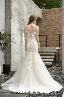 Elegante Hochzeitskleider Standesamt | Brautkleid Meerjungfrau_11