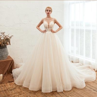 Elegante Hochzeitskleid A Linie   Standesamt Brautkleid_4
