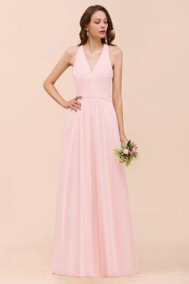 Elegante Bruatjungfernkleider Rosa | Chiffon Kleider Lang_4