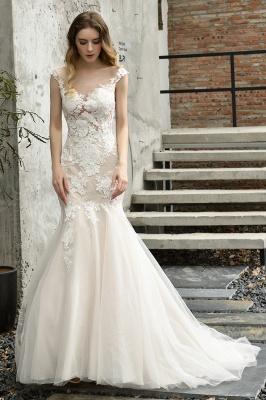 Elegante Hochzeitskleider Standesamt | Brautkleid Meerjungfrau_4