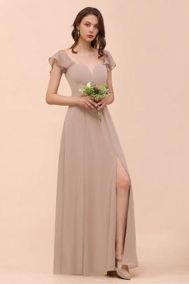 Champagne Brautjungfernkleider Lang Günstig | Abendoden Online_3