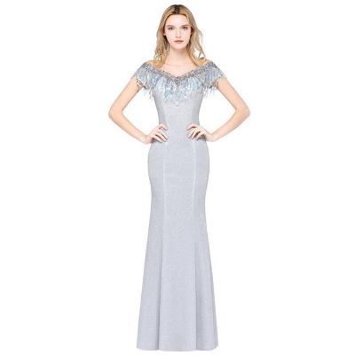 Silber Abendkleider Lang Günstig | Abiballkleider Online Kaufen_3