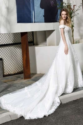 Schlichte Brautkleid A Linie   hochzeitskleider standesamt_6