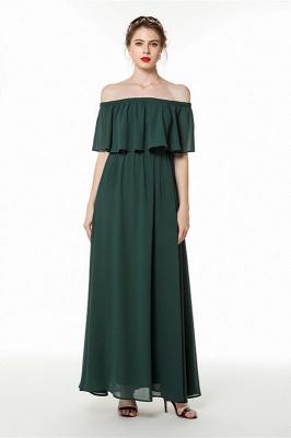 Abendkleider Dunkel Grün | Schlichte Abiballkleider Online