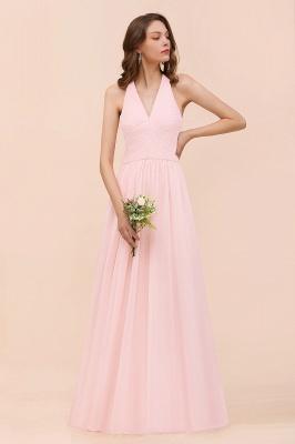 Elegante Bruatjungfernkleider Rosa | Chiffon Kleider Lang_6