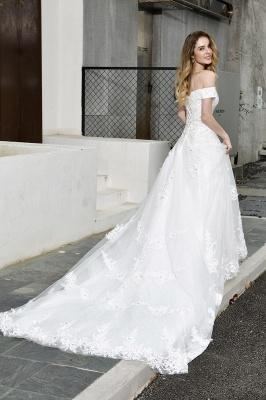 Schlichte Brautkleid A Linie   hochzeitskleider standesamt_8