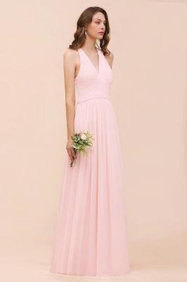 Elegante Bruatjungfernkleider Rosa | Chiffon Kleider Lang_5
