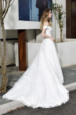 Schlichte Brautkleid A Linie   hochzeitskleider standesamt_3