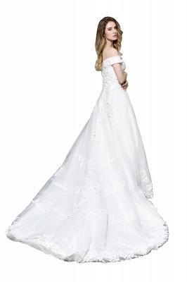 Schlichte Brautkleid A Linie   hochzeitskleider standesamt_4