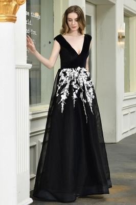 Designer Abendkleider Lang V Ausschnitt | Abendkleid Schwarz_3