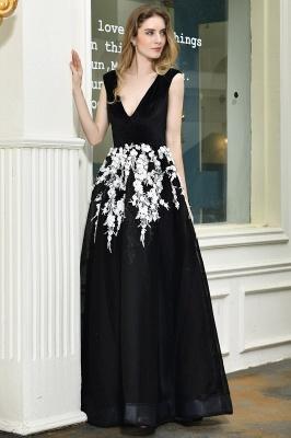 Designer Abendkleider Lang V Ausschnitt | Abendkleid Schwarz_9