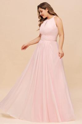 Rosa Brautjungfernkleider Große Größe | Chiffon Kleider Partykleider_5