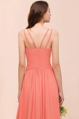 Orange Brautjungfernkleider Lang Günstig   Chiffon Kleider Abendmoden_9