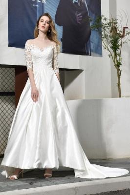 Elegante Brautkleid A linie | Hochzeitskleider Standesamt_7