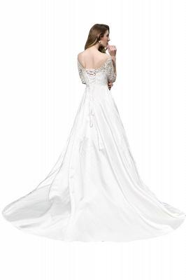 Elegante Brautkleid A linie | Hochzeitskleider Standesamt_3