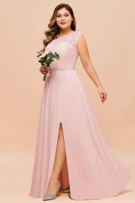 Rosa Brautjungfernkleider Günstig | Chiffon Hochzeitspartykleider_6