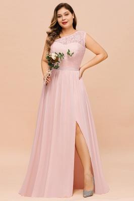 Rosa Brautjungfernkleider Günstig | Chiffon Hochzeitspartykleider_7