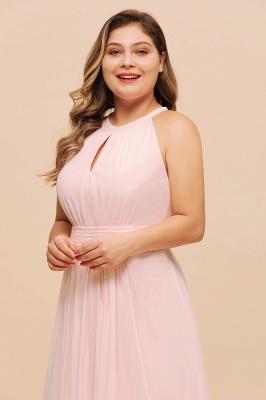 Rosa Brautjungfernkleider Große Größe | Chiffon Kleider Partykleider_7